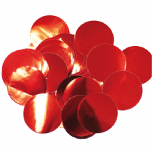 Metallic Red Foil Confetti | 25mm Metallic Round | 50g Bag